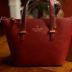 New Kate Spade Purse Burgundy
